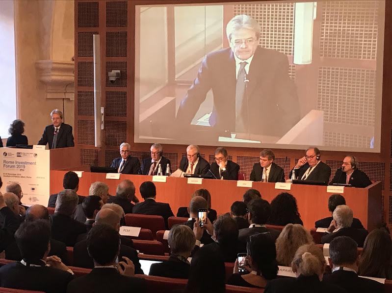 Paolo Gentiloni al Rome Investment Forum 2019
