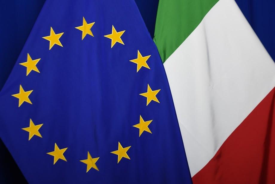 Flag of each of the 27 EU Member States, alongside the European flag / EC - Audiovisual Service - Photographer: Mauro Bottaro
