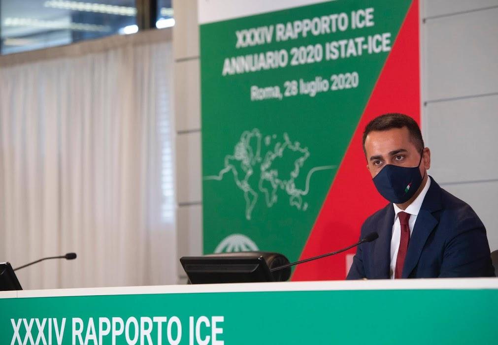 Ministro Luigi Di Maio, presentazione del 34° rapporto Ice-Istat: Photocredit MAECI